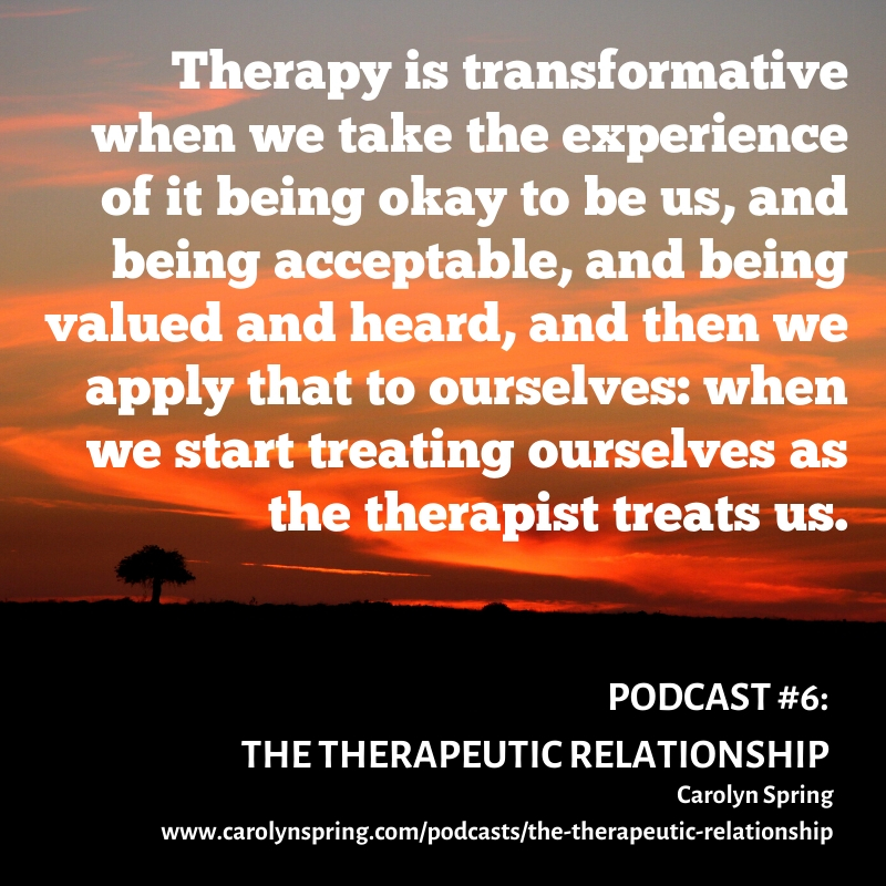 the therapeutic relationship podcast