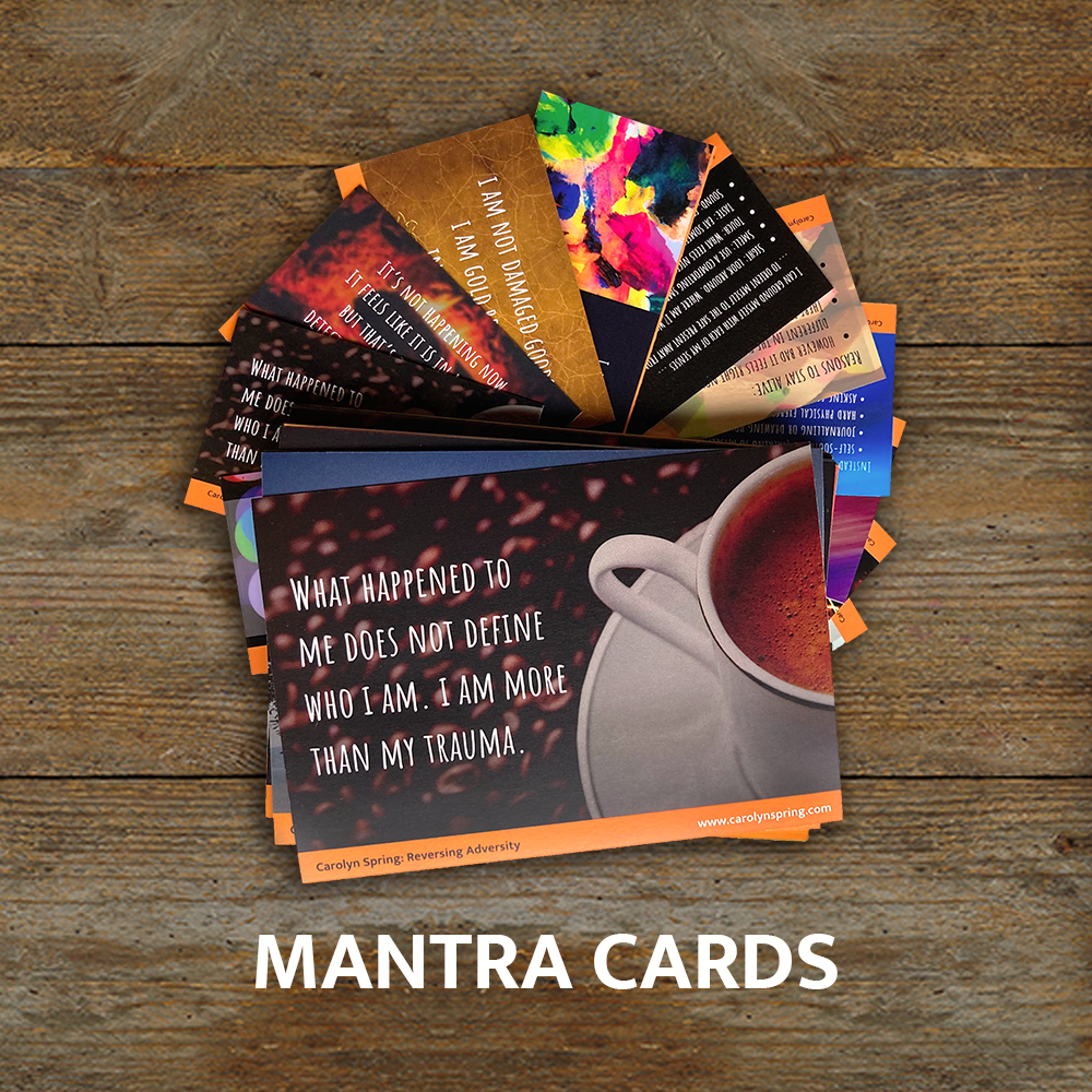 mantra cards trauma counselling resource